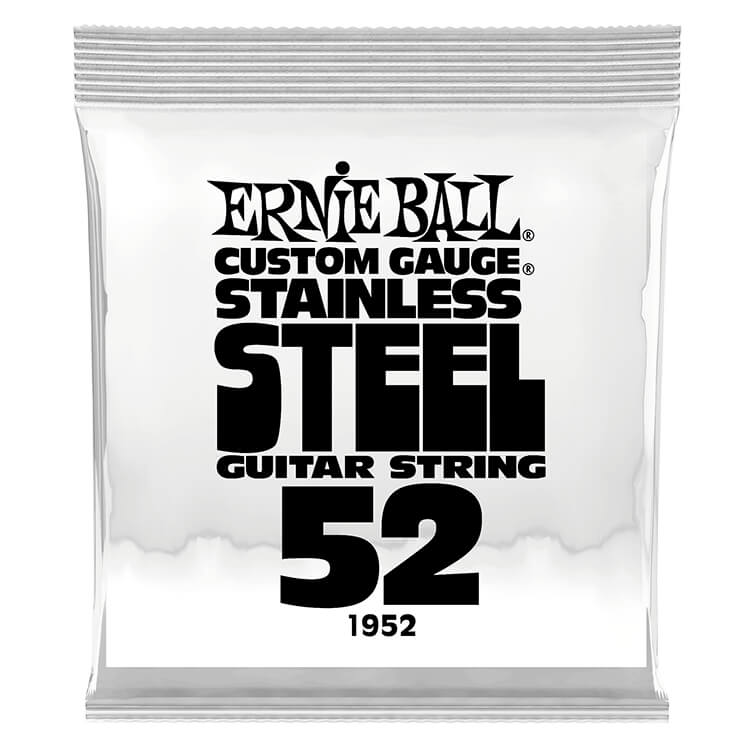 Ernie Ball Stainless Steel Wound Single Electric Guitar String .052