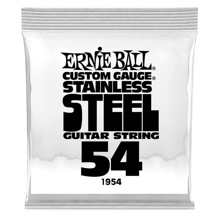 Ernie Ball Stainless Steel Wound Single Electric Guitar String .054