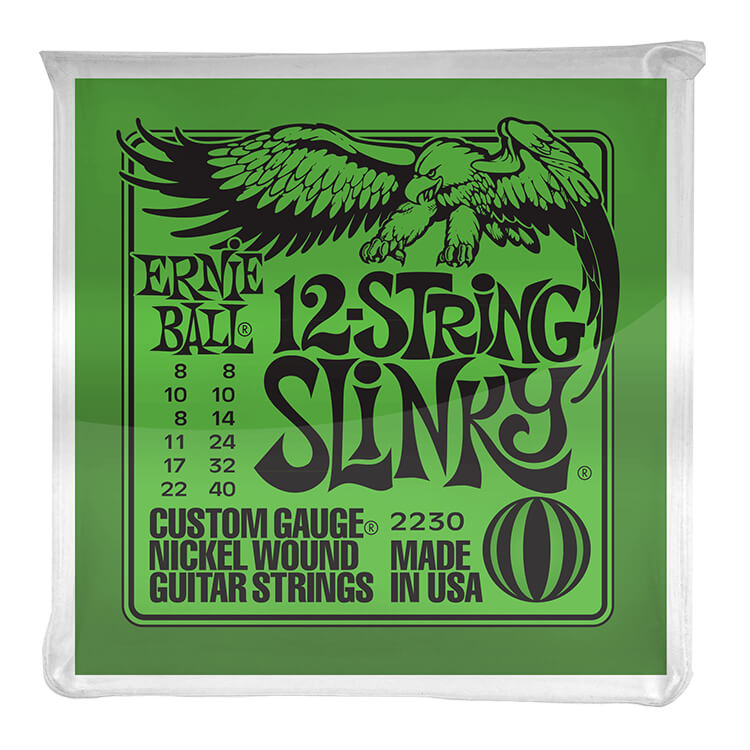 Ernie Ball Slinky Nickel Wound Electric Guitar String Set - 08-40 12-String Slinky 2230