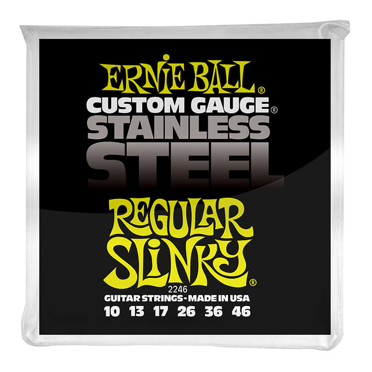 Ernie Ball Slinky Stainless Steel Wound Electric Guitar String Set - 10-46 Regular Slinky 2246