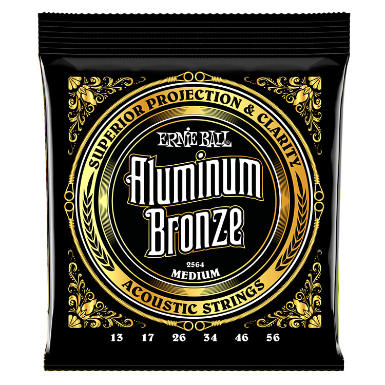 Ernie Ball Aluminum Bronze Acoustic Guitar String Set - 13-56 Medium 2564