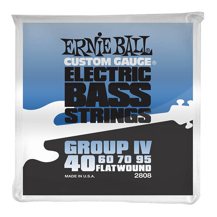 Ernie Ball Traditional Flatwound Bass Strings Long Scale - 4-String 40-095 Group IV 2808