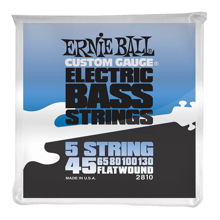 Ernie Ball Traditional Flatwound Bass Strings Long Scale - 5-String 45-130 Group V 2810