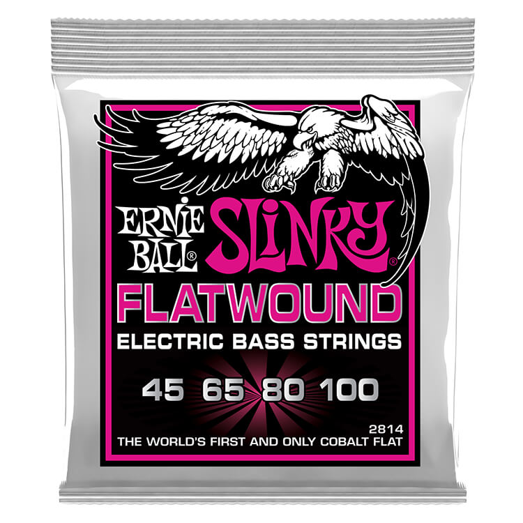 Ernie Ball Slinky Cobalt Flatwound Bass Strings Long Scale - 4-String 45-100 Super Slinky 2814