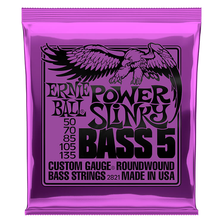 Ernie Ball Slinky Nickel Wound Bass Strings Long Scale - 5-String 50-135 Power Slinky 2821