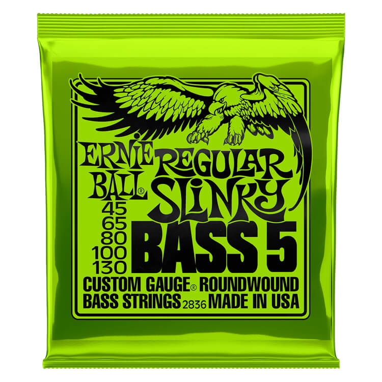 Ernie Ball Slinky Nickel Wound Bass Strings Long Scale - 5-String 45-130 Regular Slinky 2836