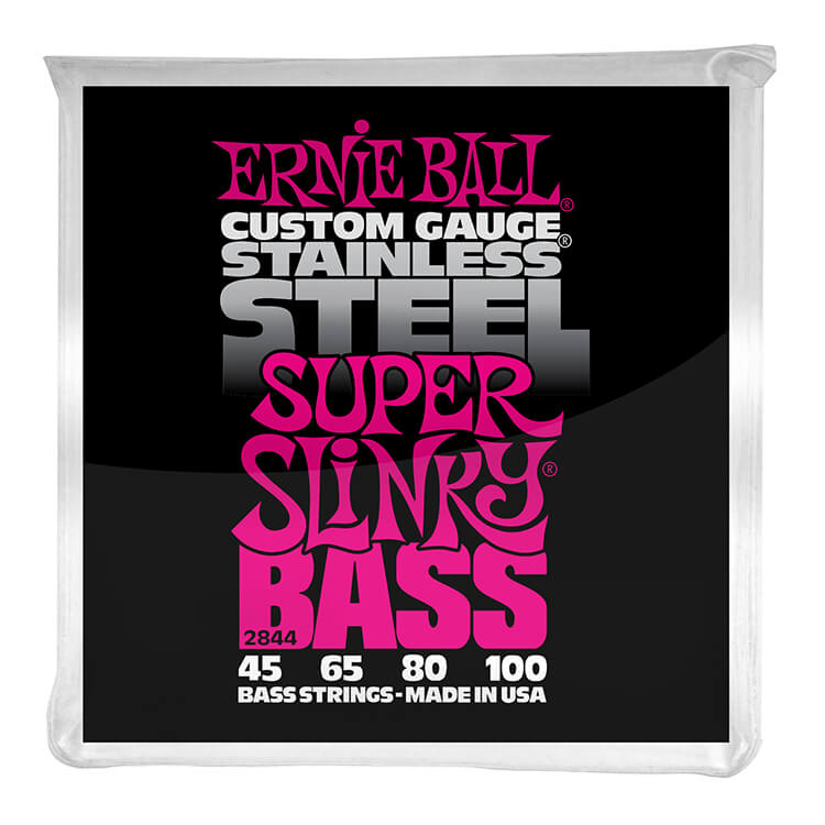 Ernie Ball Slinky Stainless Steel Wound Bass Strings Long Scale - 4-String 45-100 Super Slinky 2844