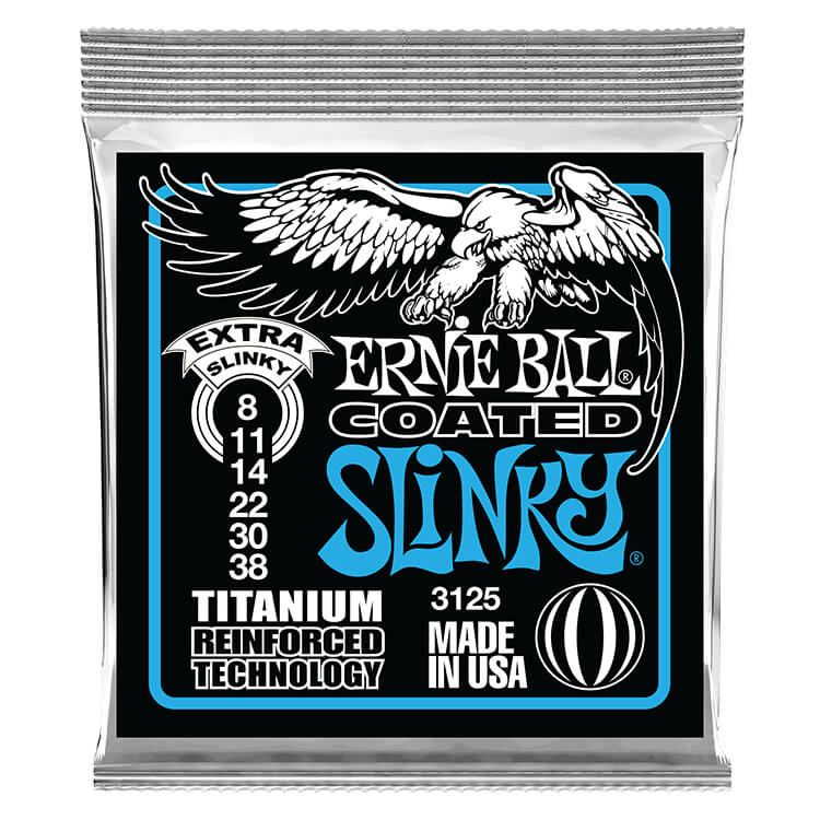 Ernie Ball Slinky RPS Coated Titanium RPS Electric Guitar String Set - 08-38 Extra Slinky 3125