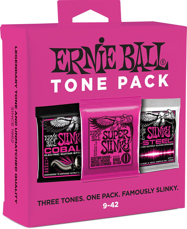 Ernie Ball Electric Guitar Tone Pack - 09-42 Super Slinky 3333 3-Sets