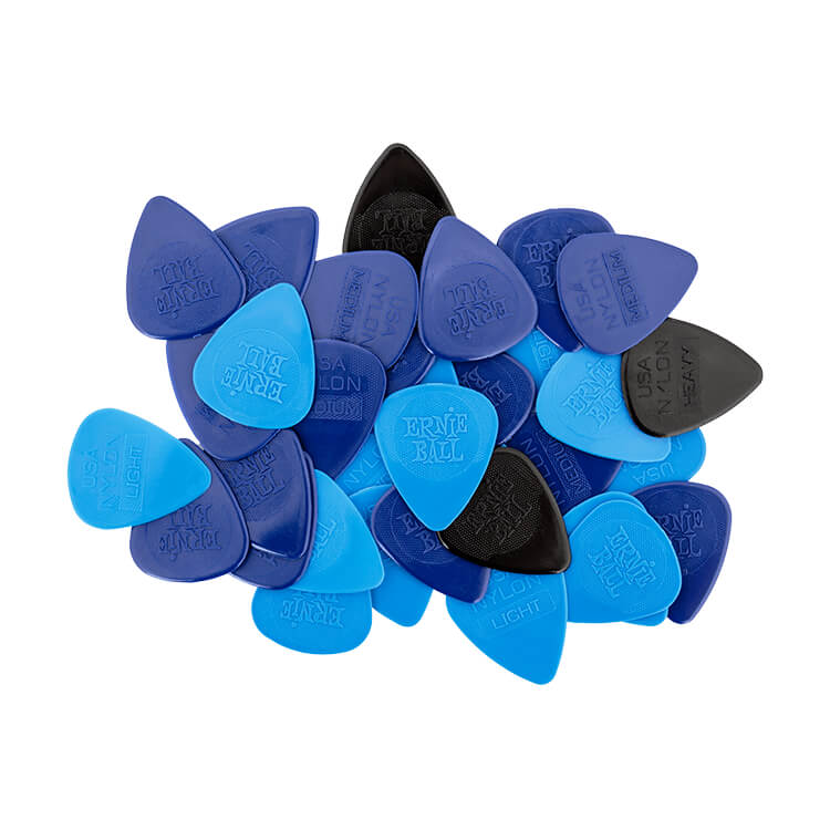 Ernie Ball Nylon Guitar Picks - Assorted .46mm .72mm .94mm bag of 50