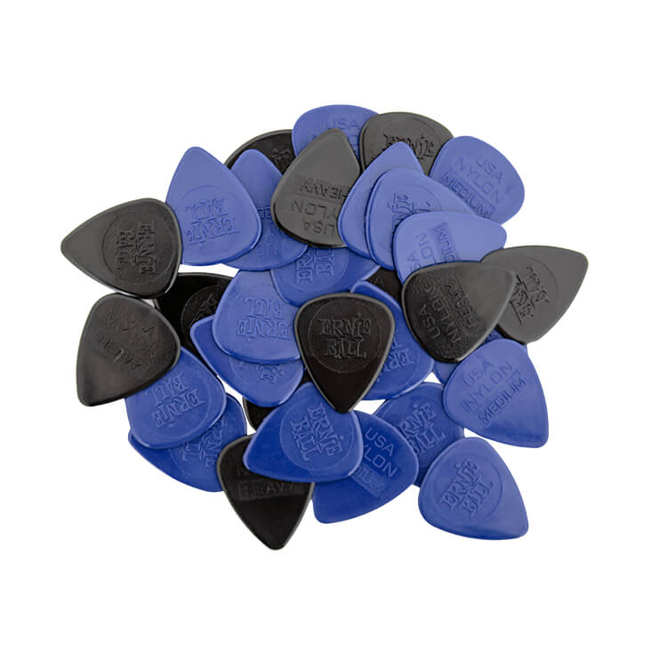 Ernie Ball Nylon Guitar Picks - Assorted .72mm .94mm bag of 50