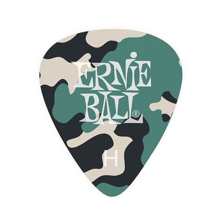 Ernie Ball Cellulose Guitar Picks - .94mm Heavy Camouflage bag of 12