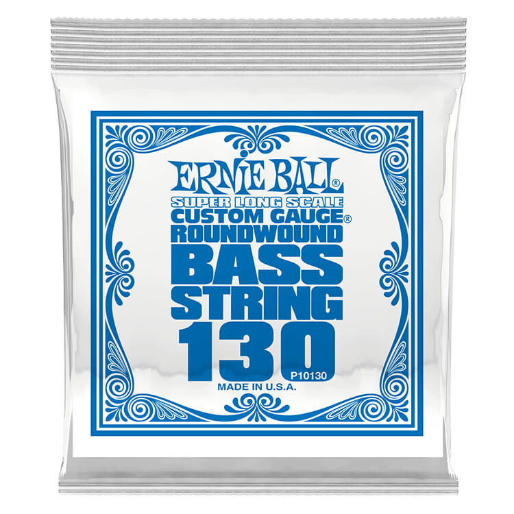Ernie Ball Nickel Wound Slinky Electric Bass Single String - Super Long Scale .130