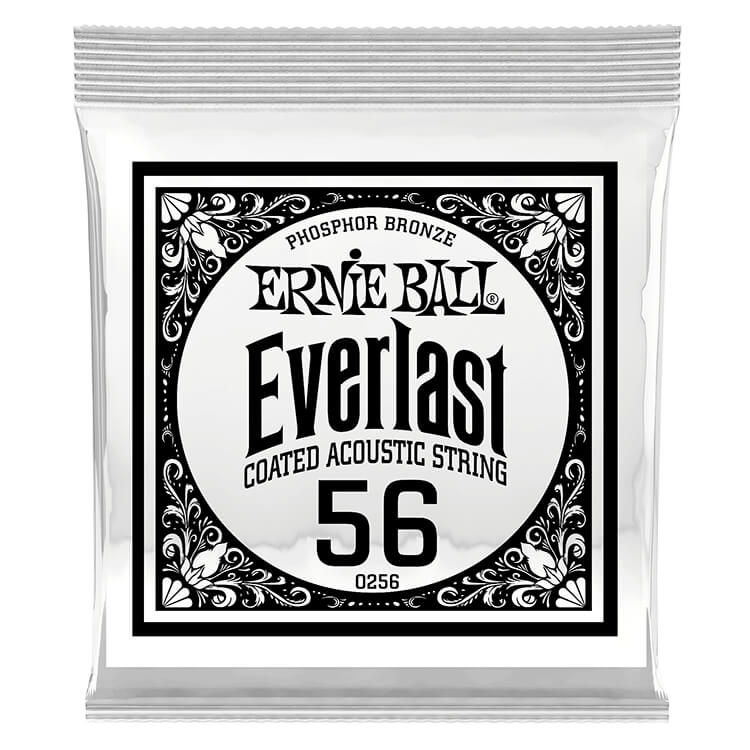 Ernie Ball Everlast Coated Phosphor Bronze Acoustic Guitar Single String .056w