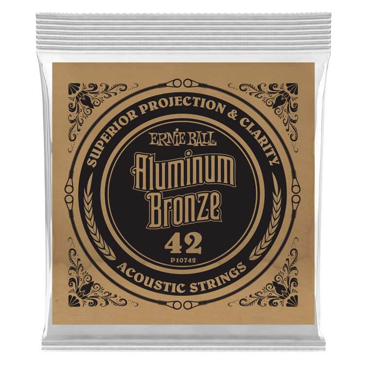 Ernie Ball Aluminum Bronze Acoustic Guitar Single String .042w