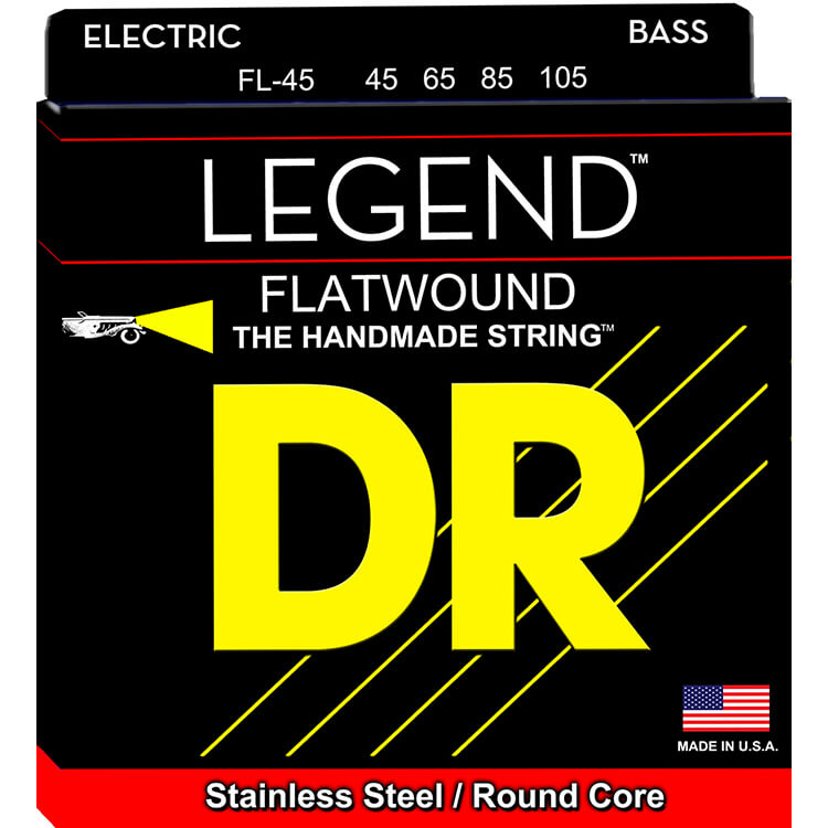 DR Legend Flatwound Bass Strings Long Scale Set - 4-String 45-105 FL-45
