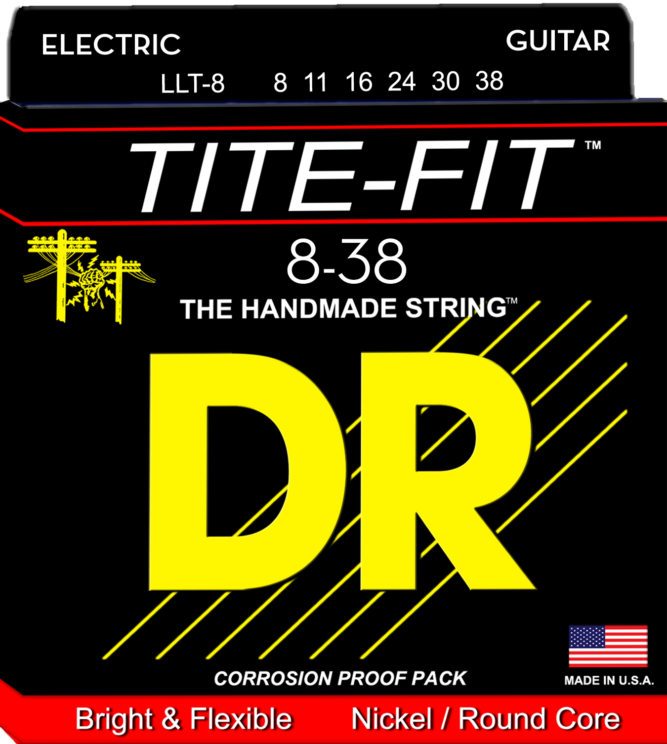 DR Tite-Fit Electric Guitar String Set - 08-32 Light-Light LLT-8