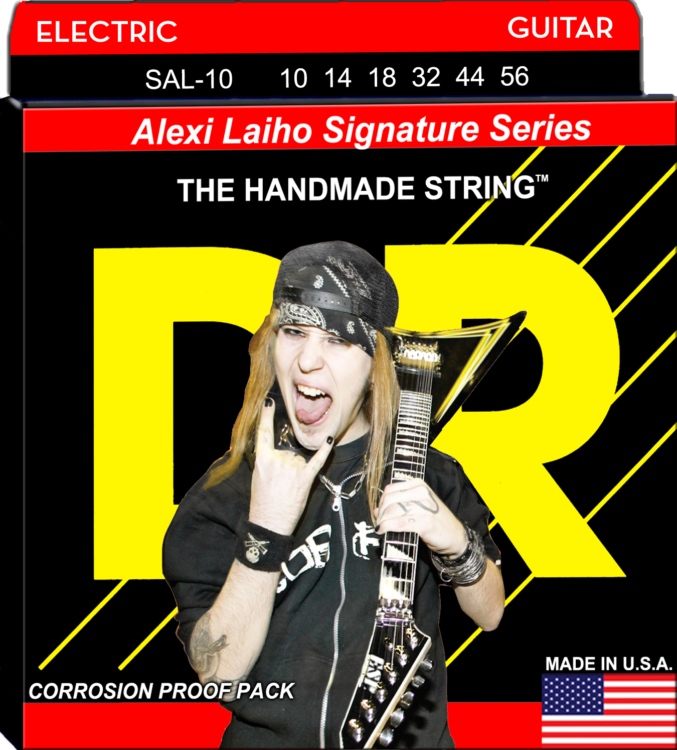 DR Alexi Laiho StringLife Treated Electric Guitar String Set - 10-52 Signature SAL-10