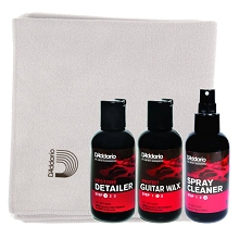 D'Addario 3-Step Polish and Micro-Fiber Cloth Package Deal