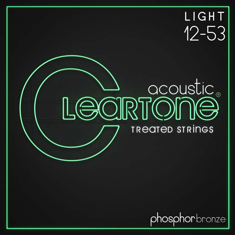 Cleartone EMP Treated Phosphor Bronze Acoustic Guitar String Set 12-56 Light 7412