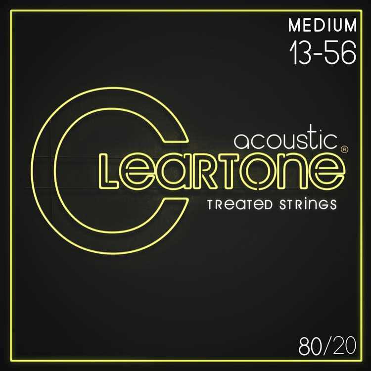 Cleartone EMP Treated 80/20 Bronze Acoustic Guitar String Set 13-56 Medium 7613
