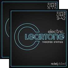 Cleartone EMP Treated Nickel Plated Steel Guitar String Sets 09-42 2-Pack Super-Light 9409-2