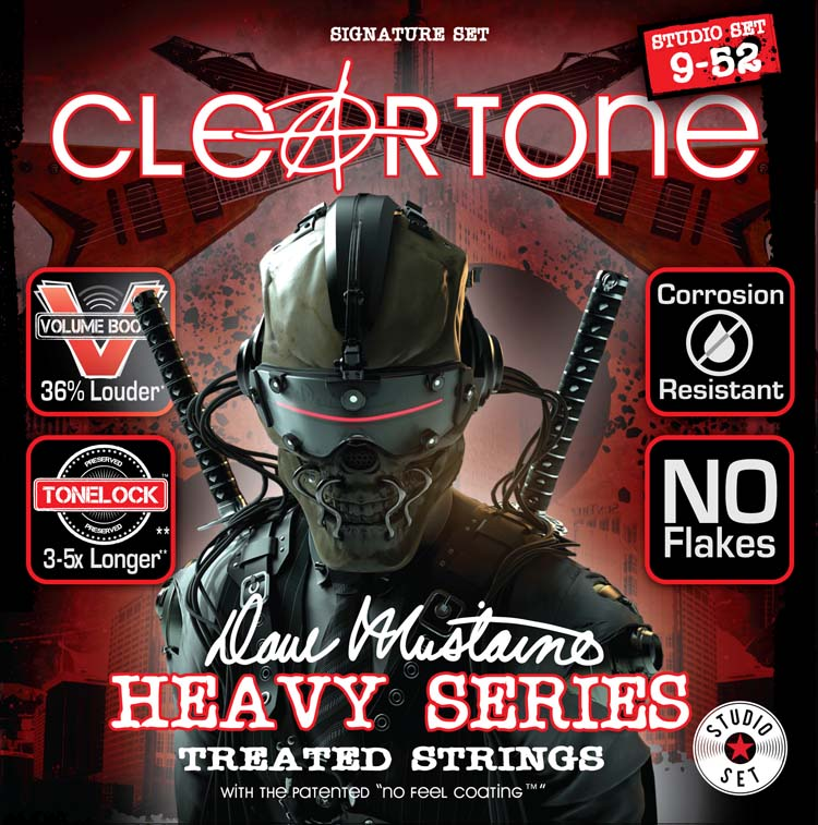 Cleartone EMP Treated Dave Mustaine Heavy Series Guitar String Set 09-52 Studio Set 29420