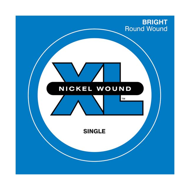 D'Addario XL Nickel Wound Single String Super Long Scale - .125T