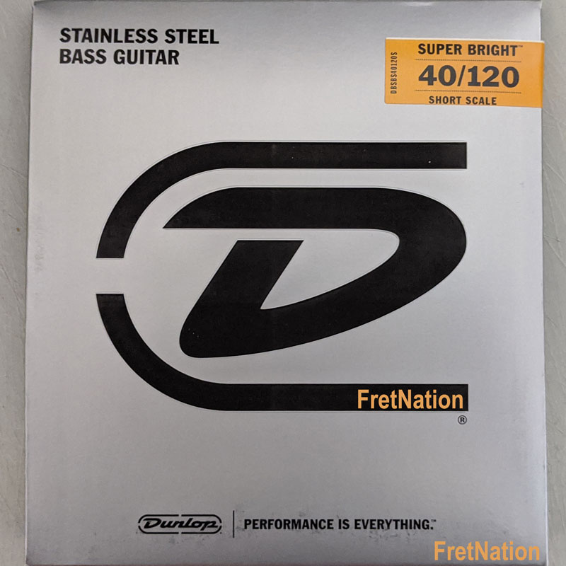 Dunlop Super Bright Stainless Steel Electric Bass Strings Short Scale Set - 5-String 40-120 DBSBS40120S