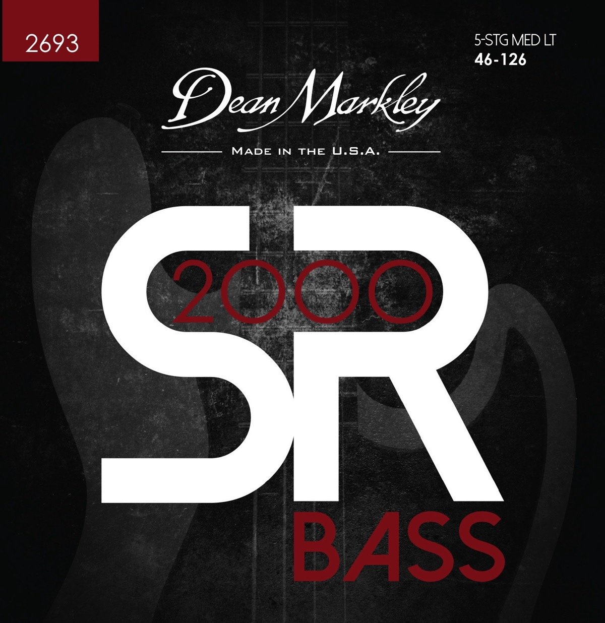 Dean Markley SR2000 Bass String Set Long Scale - 5-String Tapered 46-125 Medium-Light 2693
