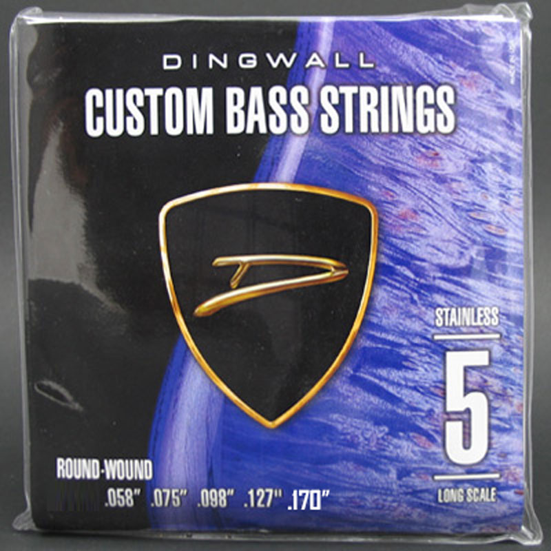 Dingwall Stainless Steel Long Scale Multi-Scale Length - 5-String Low F# Tuning 58-170
