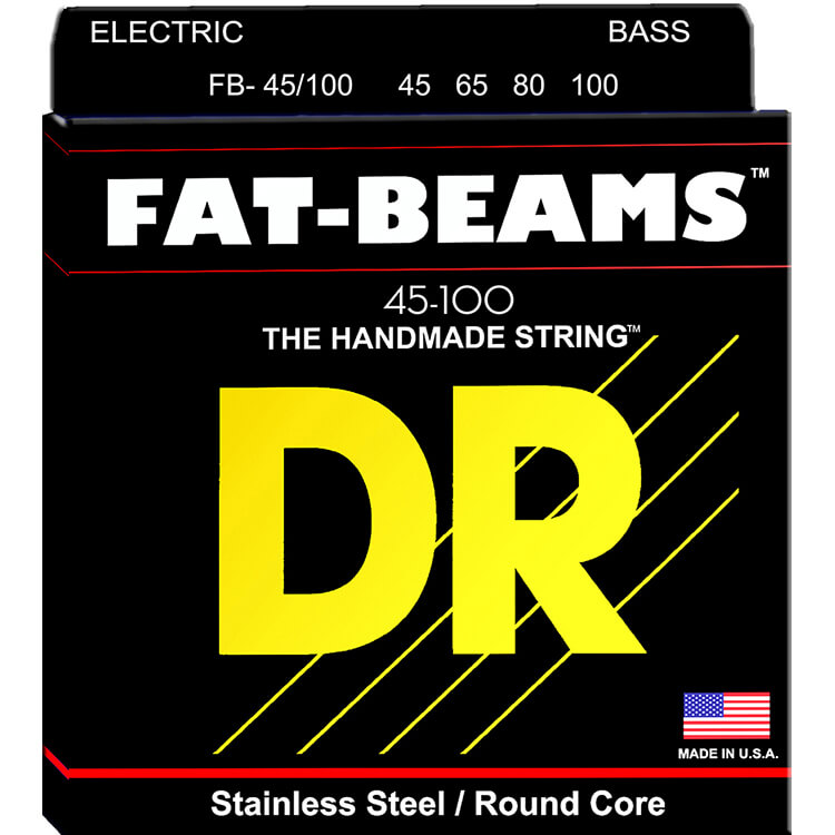 DR Fat-Beam Stainless Steel Electric Bass Strings Long Scale Set - 4-String 45-100 FB-45/100