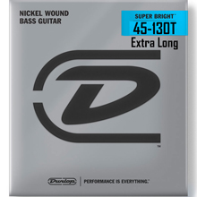 Dunlop Super Bright Nickel Plated Steel Electric Bass Strings Super Long Scale Set - 5-String Tapered 45-130T DBSBN45130TXL