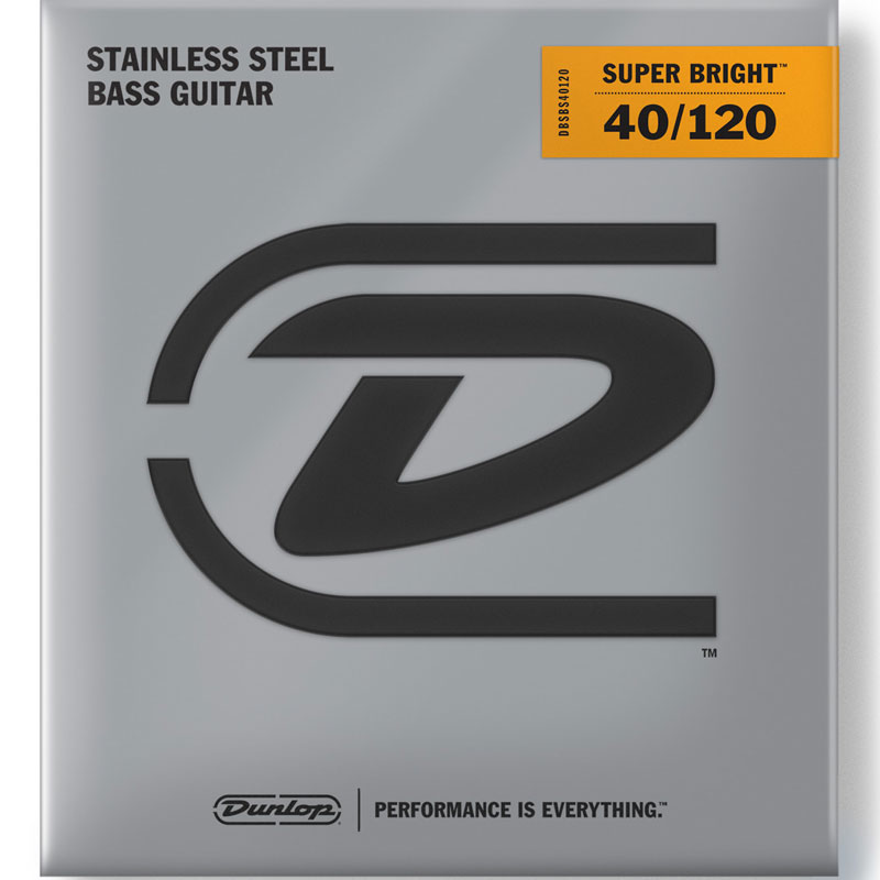 Dunlop Super Bright Stainless Steel Electric Bass Strings Long Scale Set - 5-String 40-120 DBSBS40120