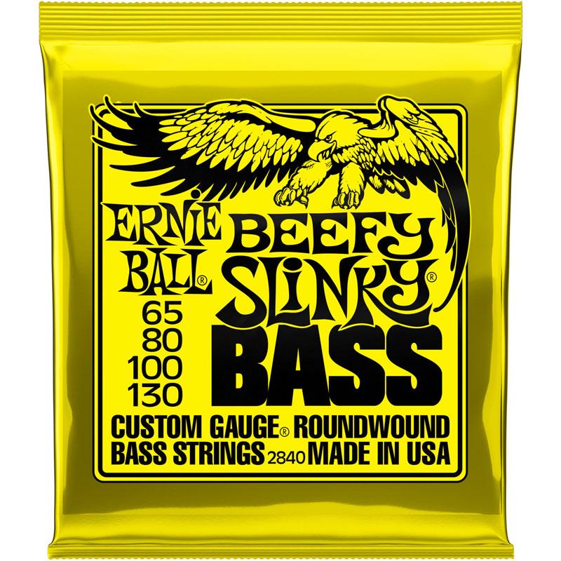 ernie ball slinky nickel wound bass strings long scale 4 string 65 130 bead beefy slinky 2833. Black Bedroom Furniture Sets. Home Design Ideas