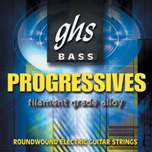 GHS Progressives Filament Grade Alloy Electric Bass Strings Super Long Scale - 5-String 40-126sh 5L8000