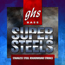 GHS Super Steels Stainless Steel Electric Bass Strings Long Scale - 5-String 44-126 5M-STB