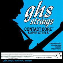 GHS Contact Core Super Steels Exposed Core Electric Bass Strings Long Scale - 5-String 45-129x 5M-CC