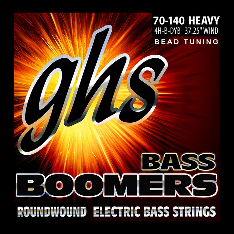 GHS Bass Boomers Nickel Wound Bass String Set Long Scale - 4-String 70-140 BEAD 4H-B-DYB