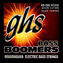 GHS Bass Boomers Nickel Wound Bass String Set Long Scale - 4-String 65-130 BEAD 4M-B-DYB