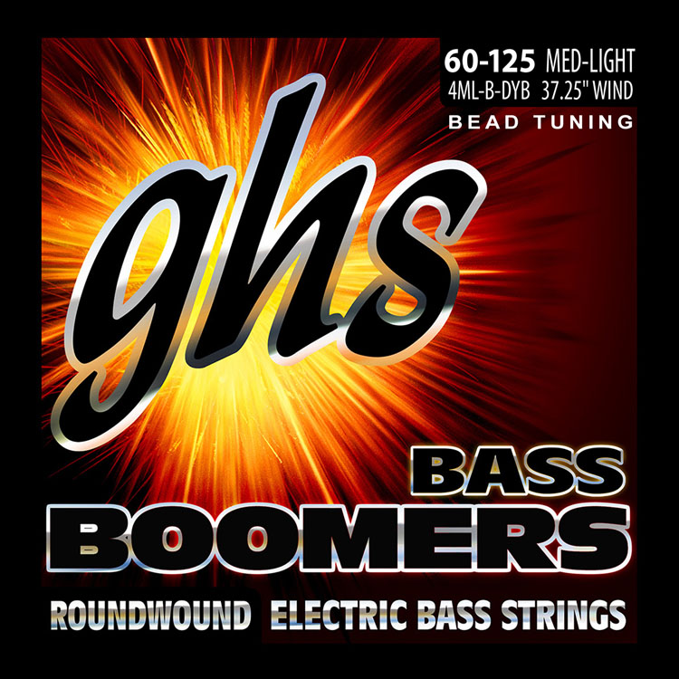 GHS Bass Boomers Nickel Wound Bass String Set Long Scale - 4-String 60-125 BEAD 4ML-B-DYB