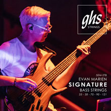 GHS Super Steels Stainless Steel Electric Bass Strings Long Scale - 5-String 35-121 Evan Marien Signature Set