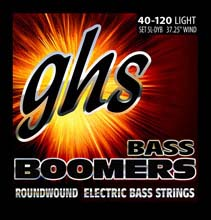 GHS Bass Boomers Nickel Wound Bass String Set Long Scale - 5-String 40-120 Light 5L-DYB