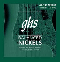 GHS Balanced Nickels Pure Nickel Round Wound Bass Strings Long Scale - 5-String 44-130 5M-NB
