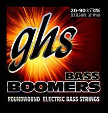 GHS Bass Boomers Nickel Wound Bass String Set Super Long Scale - Octave 8-String 40-090 8LS-DYB