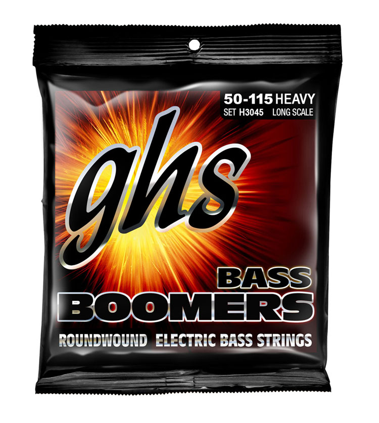 GHS Bass Boomers Nickel Wound Bass String Set Long Scale - 4-String 50-115 Heavy H3045