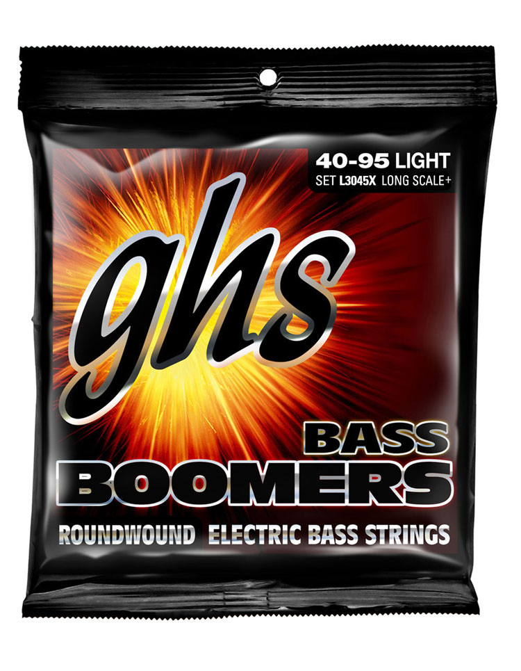 GHS Bass Boomers Nickel Wound Bass String Set Super Long Scale - 4-String 40-095 Light L3045X