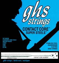 GHS Contact Core Super Steels Exposed Core Electric Bass Strings Long Scale - 4-String 45-105x M5200