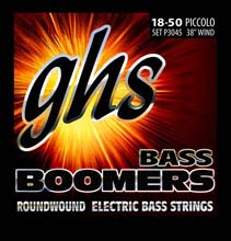 GHS Bass Boomers Nickel Wound Bass String Set Piccolo - 4-String 18-50 P3045