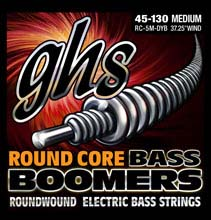 GHS Round Core Bass Boomers Nickel Wound Bass String Set Long Scale - 5-String 45-130 RC-5M-DYB
